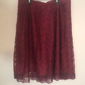 Bellavista Burgundy Lace Skirt